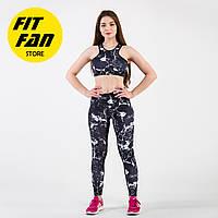 Женский спортивній костюм для фитнеса бега йоги Fit Fan Marble