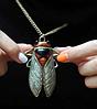 Цепочка кулон подвес- муха насекомое овод шмель металл крупная, фото 5