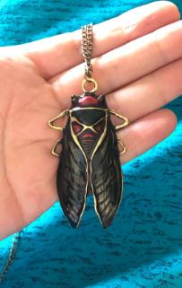 Цепочка кулон подвес- муха насекомое овод шмель металл крупная