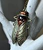 Цепочка кулон подвес- муха насекомое овод шмель металл крупная, фото 9
