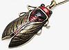 Цепочка кулон подвес- муха насекомое овод шмель металл крупная, фото 6
