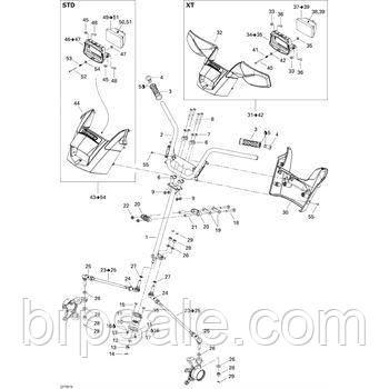 Передняя рулевая крышка Can-Am BRP Handlebar prot