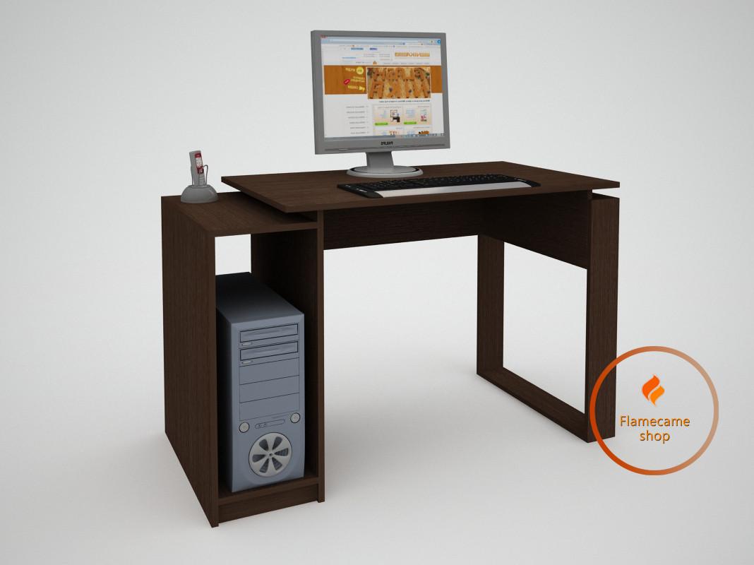 Компьютерный стол с ячейкой из ДСП. Код: ЕКО-13210