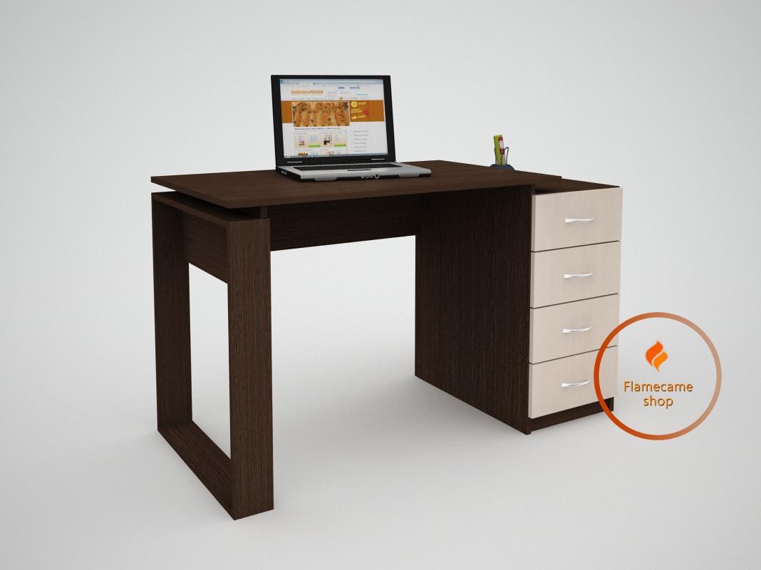 Комп'ютерний стіл з 4 ящиками з ДСП. Код: ЕКО-13215