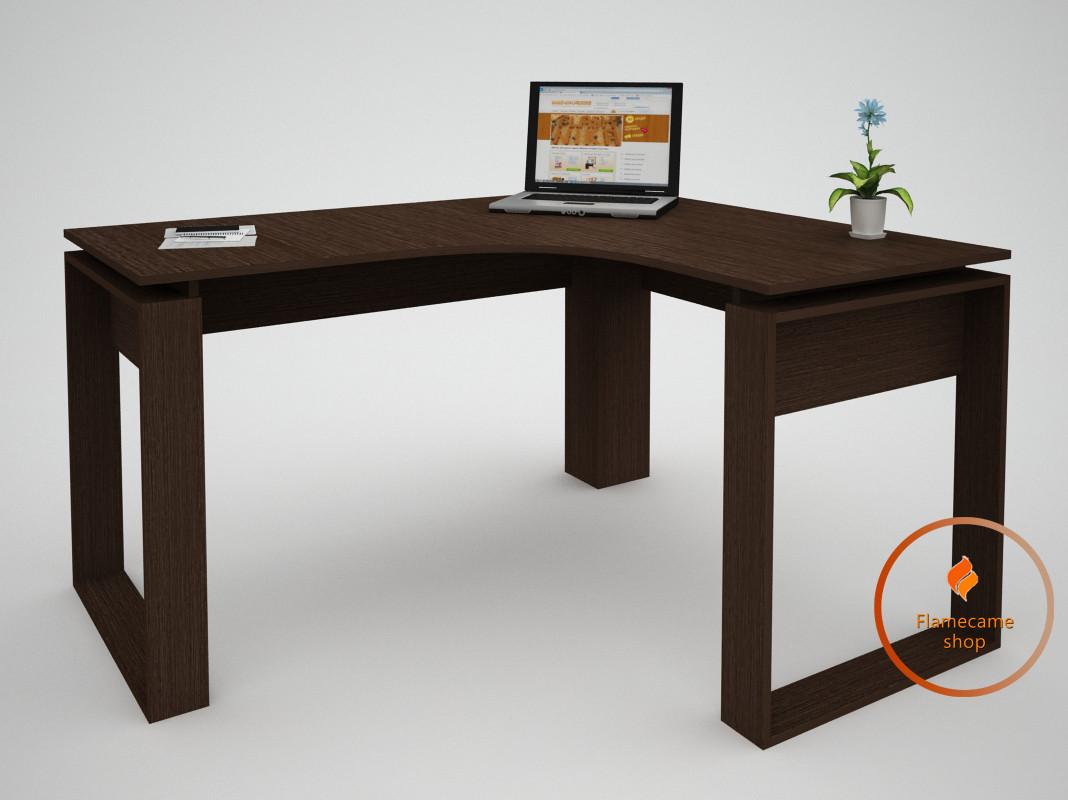 Компьютерный стол угловой из ДСП. Код: ЕКО-13221