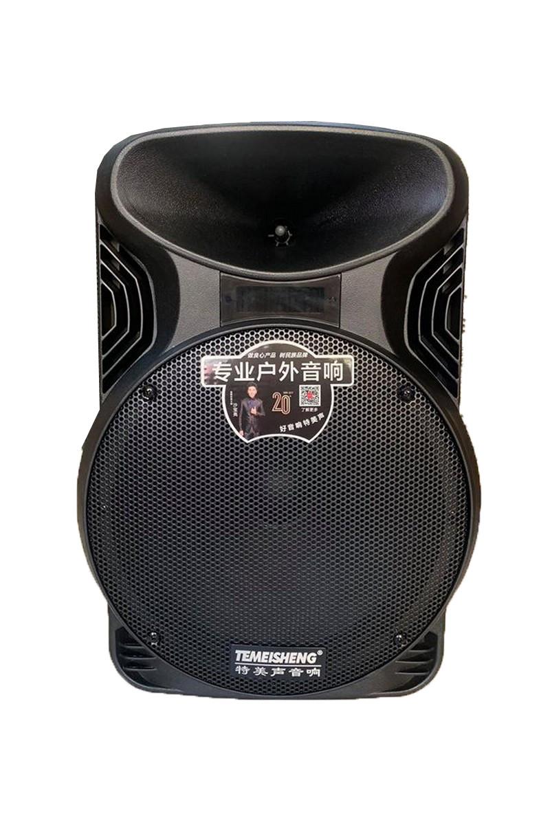 Акустична портативна колонка комбік Temeisheng A 12-18А   Два мікрофони, Bluetooth, USB
