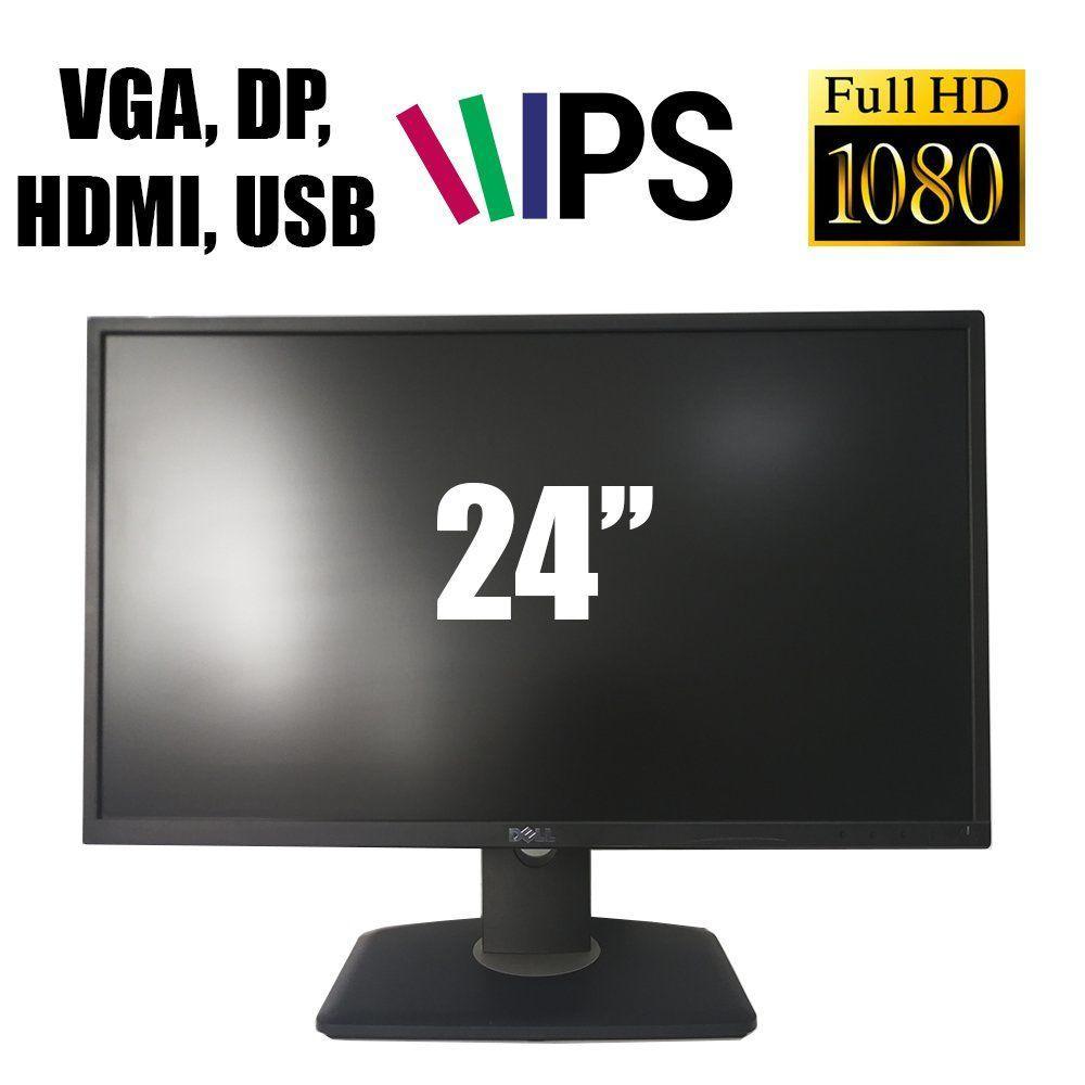"""Dell P2417H / 24"""" (1920х1080) 16:9 IPS WLED  / VGA, DP, HDMI, USB Hub / проф. нога / Black"""