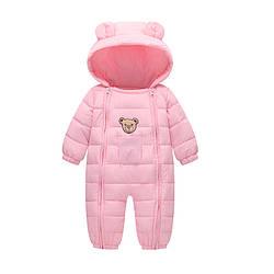 Комбинезон для девочки демисезонный Счастливый мишка, розовый Berni Kids (80)