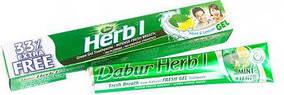 """Зубна паста Dabur Herb'l """"Свіжий гель. М'ята і лимон"""" (75г + 25г)"""