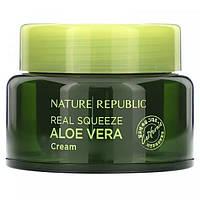 Увлажняющая эссенция с алоэ, Nature Republic, Real Squeeze Aloe Vera, 50 мл