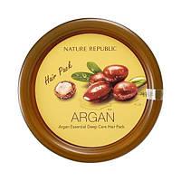 Интенсивно восстанавливающая маска для волос с аргановым маслом, Nature Republic, Argan Essential Deep Care Hair Pack, 200 мл