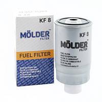 Топливный фильтр MOLDER с прокладкой аналог WF8042/KC18/W8422 (KF8)