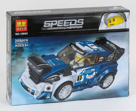 """Конструктор 10945 (72) Bela Speeds Champion """"Гоночний автомобіль"""", 209 деталей, в коробці"""
