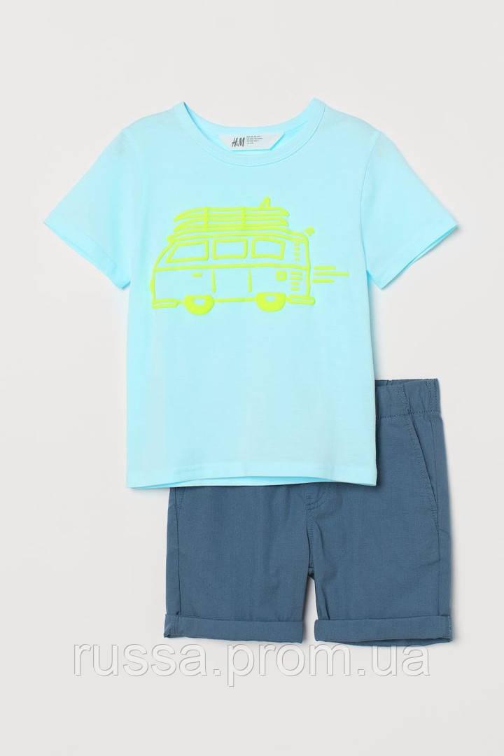 Летний костюмчик - футболка и шортики HM для мальчика