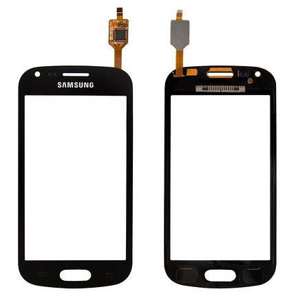 Сенсор (тачскрин) для Samsung S7562 черный, фото 2