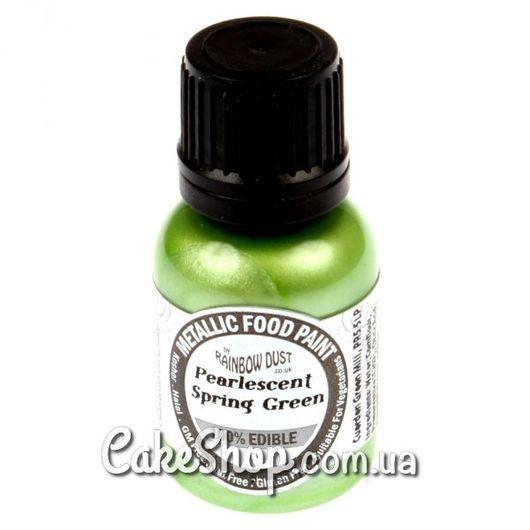 Жидкий краситель Rainbow Металлик Зеленая весна