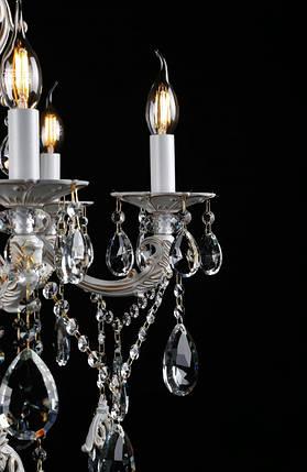 Люстра свеча L30310/10 (WT+GD), фото 2