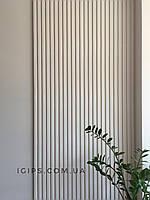 """Гіпсова 3D панель"""" Паралель"""" на стіну з гіпсу Кнауф Р-10 розмір 50х50см"""