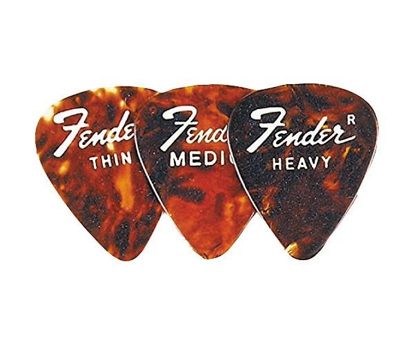 FENDER 351 SHELL Heavy Медиатор Heavy коричневый