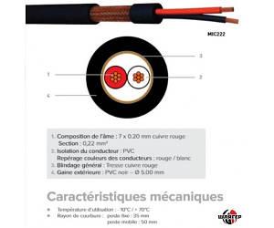 CAE MIC2221 Кабель микрофонный 2х0,22 мм., Черный