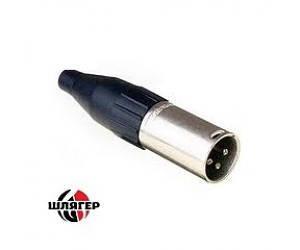 BIG GCF502 / 3P Разъем Mini XLR кабельный, штиревий, 3-контактный