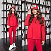 Спортивный костюм женский с капюшоном красный (4 цвета) ТК/-6226