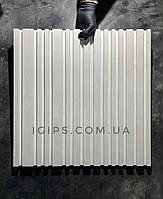 """Гіпсові стінові 3d панелі """"Баркод"""" розмір 50х50см"""