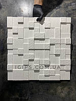 "Гіпсова 3д панель для декору ""Кубики"" 50х50 см"