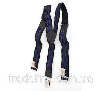 Подтяжки мужские Dovhani AP001-5BLWBLUE-555 Черные-Синие