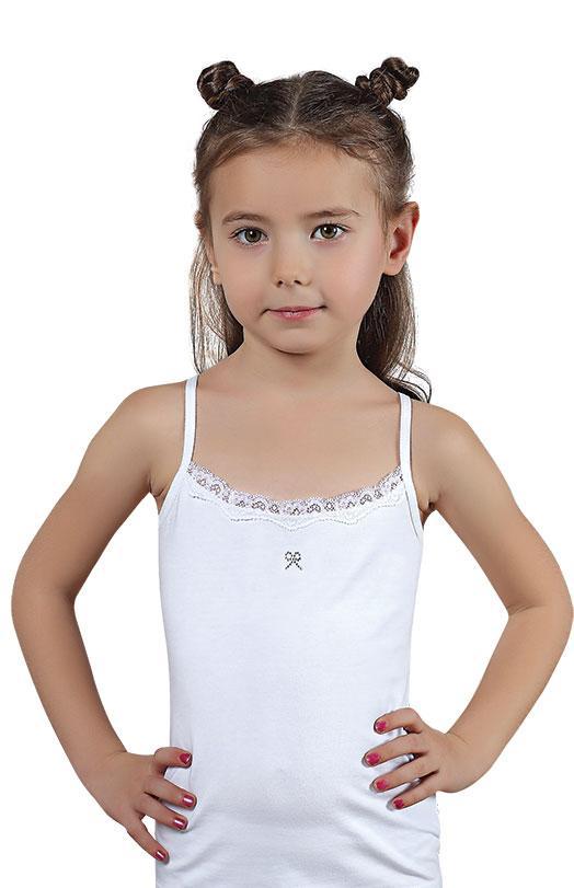 Майка для девочки белая Baykar Б4334 рост 98-104