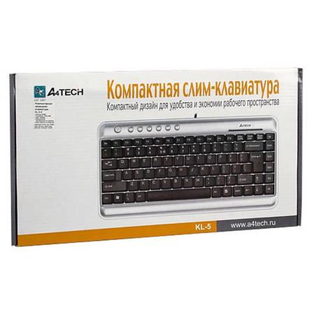 Клавіатура A4Tech KL-5 Silver/Black USB, фото 2
