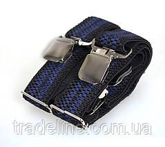 Подтяжки мужские Dovhani AP003-5BLWBLUE-555 Черные-Синие, фото 2