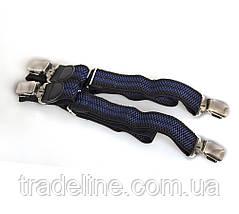 Подтяжки мужские Dovhani AP003-5BLWBLUE-555 Черные-Синие, фото 3