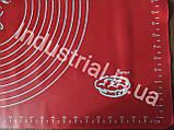 Силиконовый коврик для раскатки и выпечки теста 60-42 см Красный, фото 5