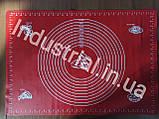 Силиконовый коврик для раскатки и выпечки теста 60-42 см Красный, фото 3