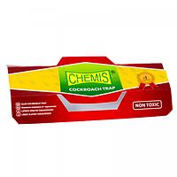 Клеевая ловушка для тараканов с таблеткой-приманкой Chemis 5шт.