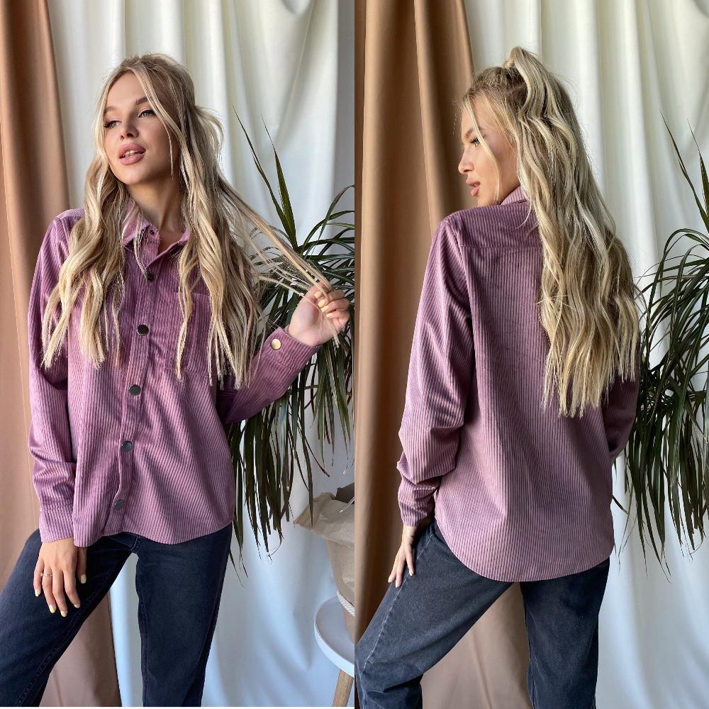 Женская рубашка, вельвет, р-р 42-44; 46-48 (фрезовый)