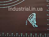 Силиконовый коврик для раскатки и выпечки теста 60-42 см Коричневый, фото 6