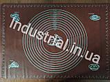 Силиконовый коврик для раскатки и выпечки теста 60-42 см Коричневый, фото 3