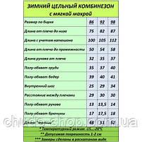 Зимний цельный комбинезон Пионы (размеры 92 и 98 см), фото 2