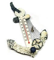 Термометр настенный в морском стиле Якорь