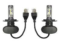Светодиодные лампы Н-4. LED лампы H4 6000K 4000Lm. 12-24V \ SVS S1. Тип охлаждения - радиатор. Пр-во Корея.