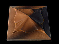Крышка на забор «КВІТКА» 450х450 мм. цвет коричневый,вес 24 кг.
