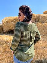 Трендовая блуза с V-вырезом, фото 3
