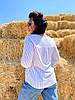 Трендовая блуза с V-вырезом, фото 2