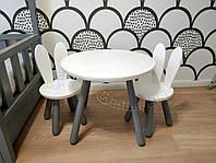 Детский круглый столик и 2 стульчик Зайчика
