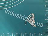 Силиконовый коврик для раскатки и выпечки теста 60-42 см Голобой, фото 5