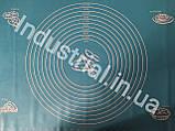 Силиконовый коврик для раскатки и выпечки теста 60-42 см Голобой, фото 3