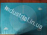Силиконовый коврик для раскатки и выпечки теста 60-42 см Голобой, фото 2