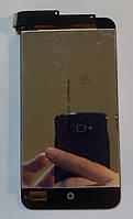Дисплей модуль Meizu MX2 в зборі з тачскріном, чорний